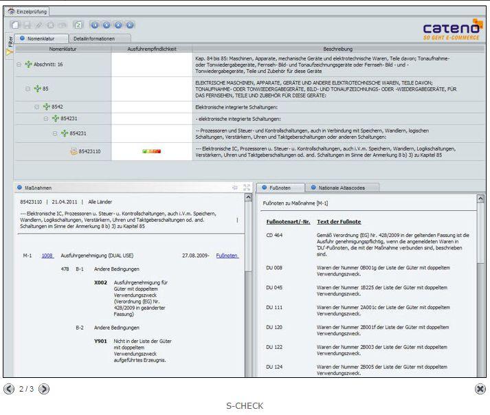cateno s-check Screenshot | microtech.de