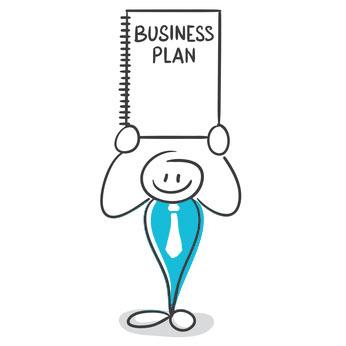 Gewerbegründung | Strichmänchen mit Businessplan | microtech.de