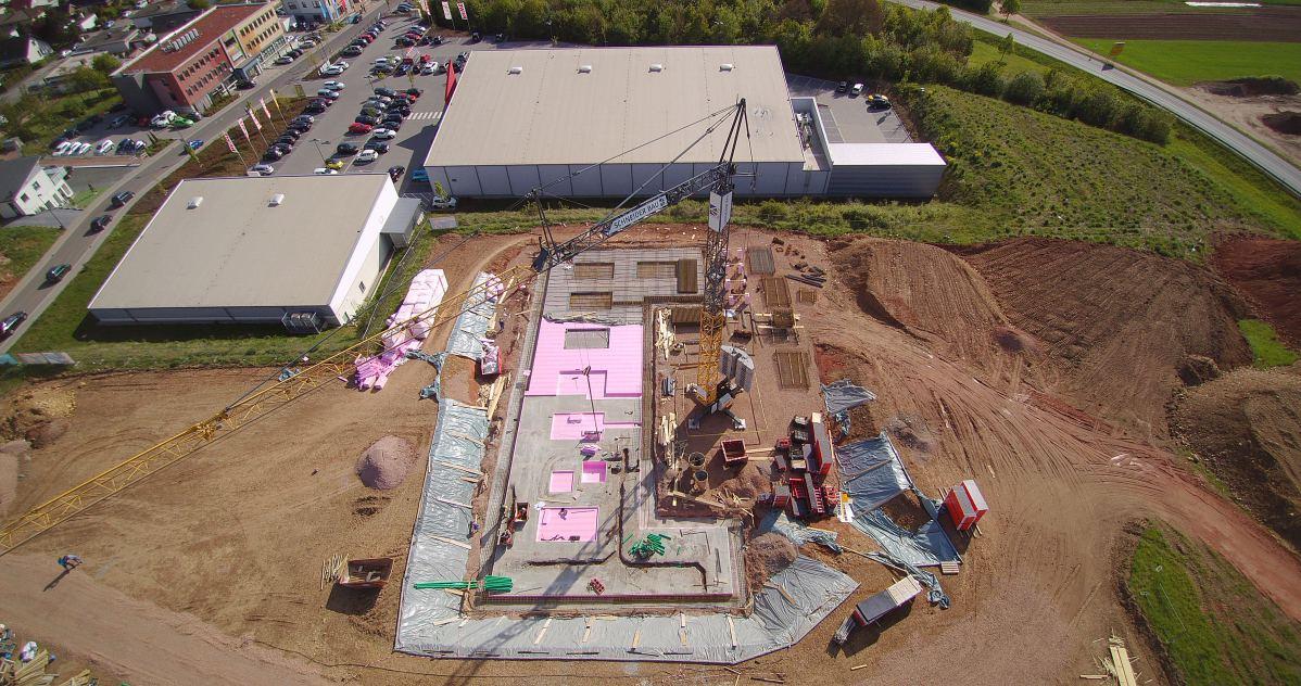 Luftaufnahme eins von Baugrundstück | microtech.de