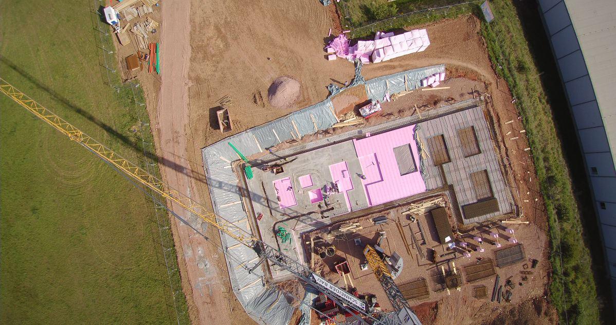 Luftaufnahme vier von Baugrundstück | microtech.de