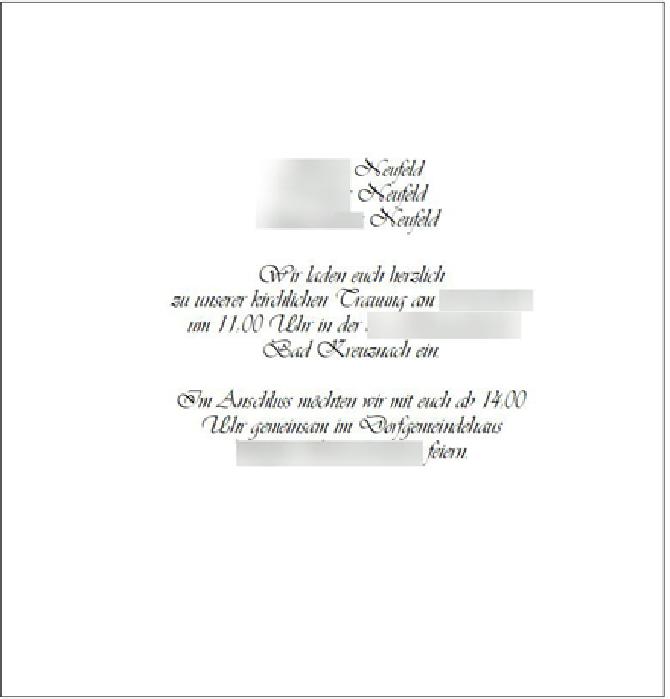 Hochzeitsplanung - Einladungen mit ERP
