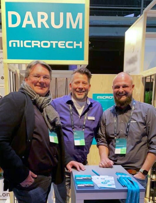 v.r.n.l. Oliver Prothmann (BVOH), Ralf Kaufhold (microtech) und Ulrich Pöhner (GREYHOUND)