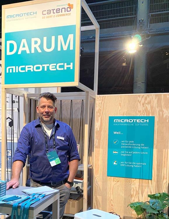 Ralf Kaufhold, microtech Neukundenvertrieb, an unserem Messestand auf der eBay Open 2019