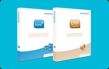 Grafik von Produktbild ERP-Complete und büro+ | microtech.de
