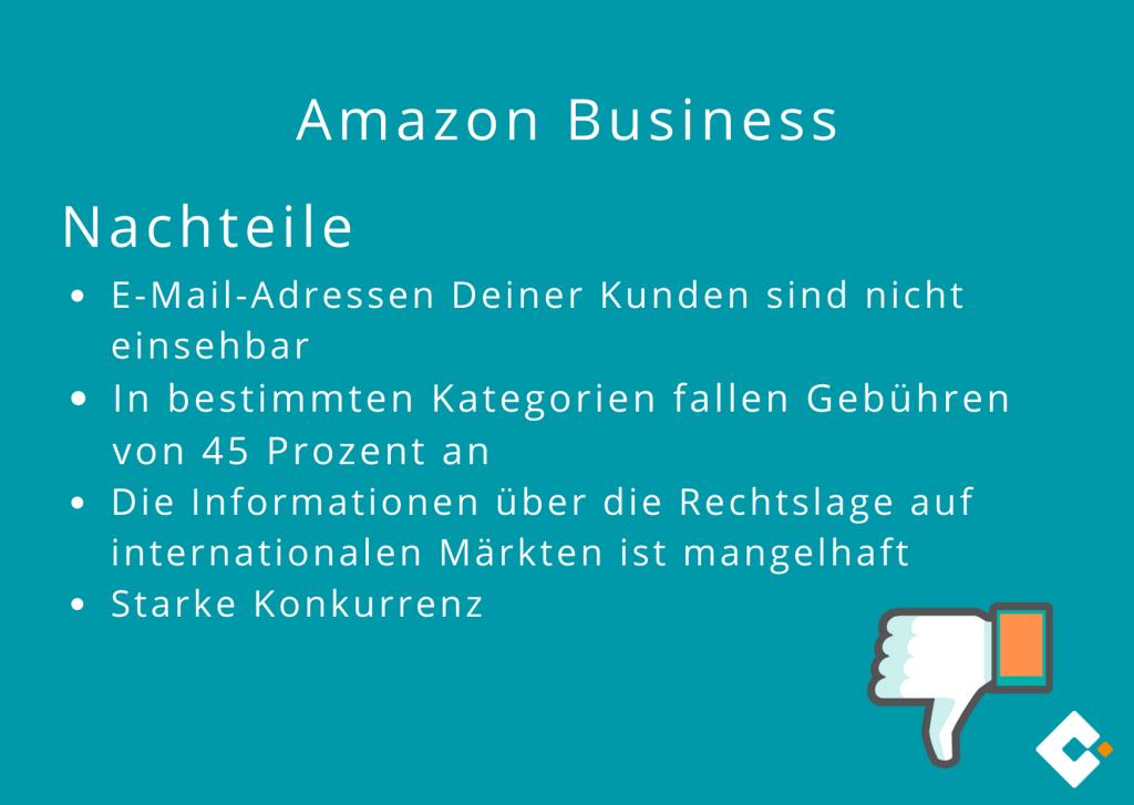 Amazon Business - Nachteile