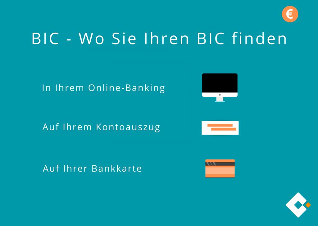 BIC - Wo Sie Ihren BIC finden
