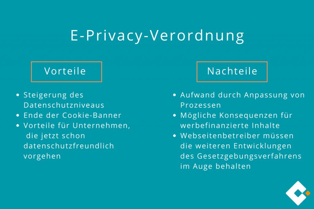 E-Privacy-Verordnung - Vor- und Nachteile