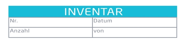 Beschriftung des Inventars | microtech.de