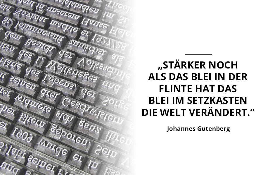 Johannes Gutenberg Zitat