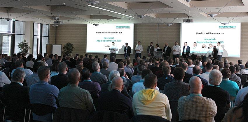 microtech Regionalkonferenz 2019 | Begrüßung der rund 200 Teilnehmer