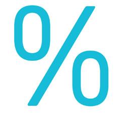 Grafik von Prozentzeichen   microtech.de