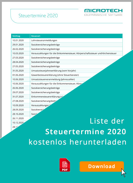 Steuertermine 2020: Kalender zum Download