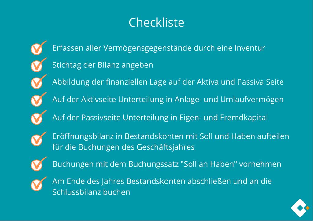Eröffnungsbilanz - Checkliste
