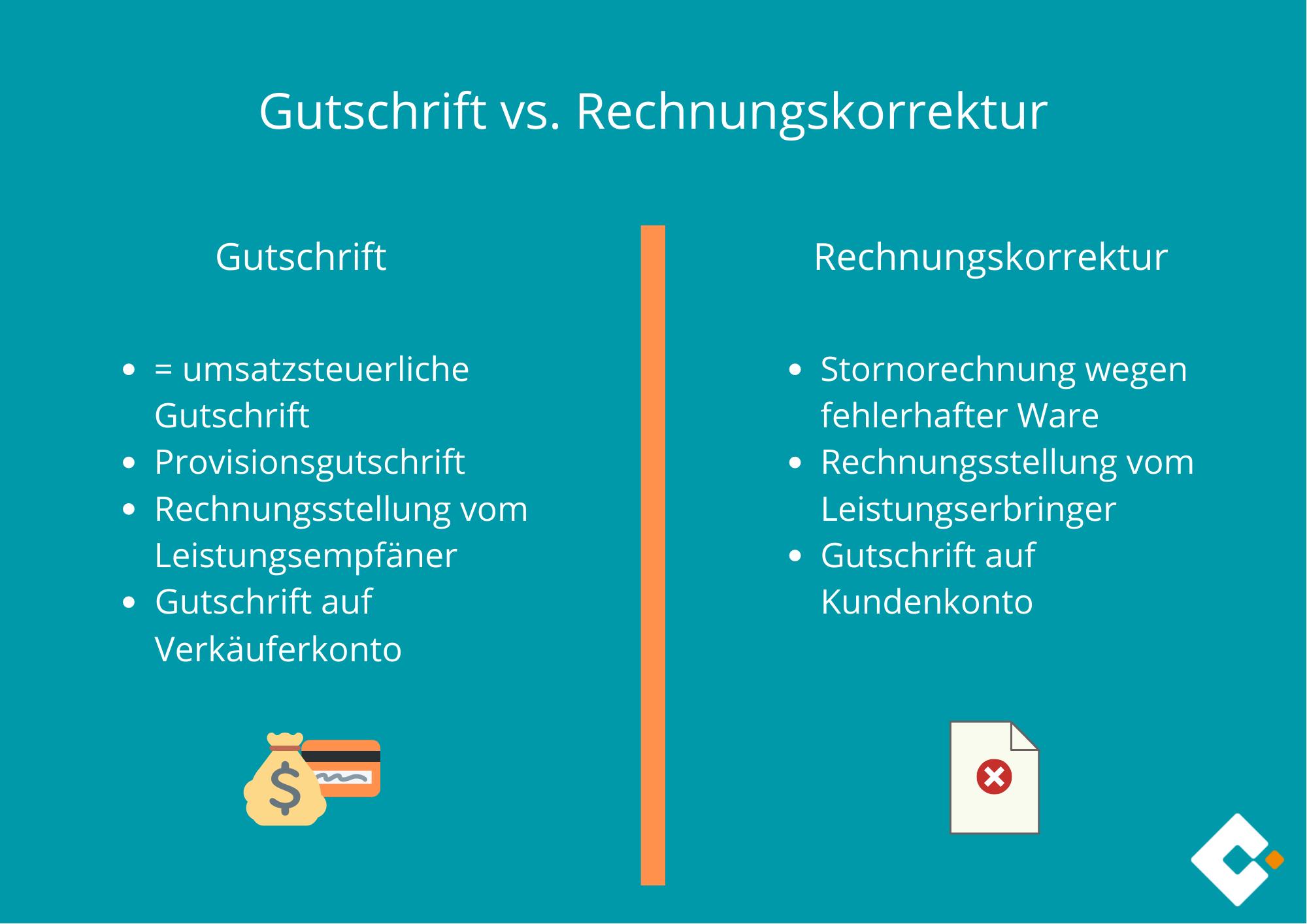 Gutschrift vs. Rechnungskorrektur