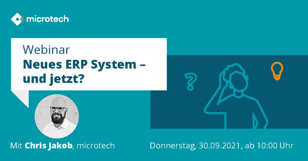 Webinar Neues ERP-System - und jetzt?